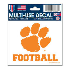 Clemson Tigers Football  Multi Use Decal 3x4 New Retail Packaging Ships Same Day