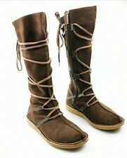 ~ O'Neill Pictograms ~ UK Size 5 ~ Flat Leather Suede Brown Boots Lace Around ~
