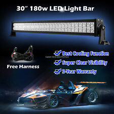 30Inch 180w LED Light Bar Spot Flood  Work Lamp 4WD Boat UTE Driving ATV Car 32""