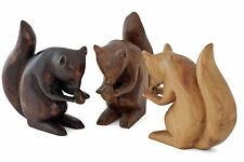 More details for wooden squirrel carving ornament 7