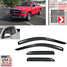 Window Deflector Visor Shade Guard For 03-09 Dodge Ram 2500/3500 Quad Crew Cab
