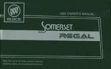 1985 Buick Somerset Regal Owners Manual User Guide Reference Operator Book Fuses