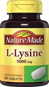 Pastillas Suplemento Dietario L Lisina 1000 Mg Llagas Herpes Sistema Inmune NEW