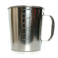 Stainless Steel Pouring Hot Pot 2000ml 2Liter Candle Soap Making Melt HEAVY DUTY