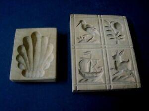 2 x Holz Model Springerle alt