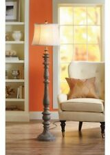Rustic Floor Lamp Vintage Distressed Wood Living Room Decor Antique Style Home