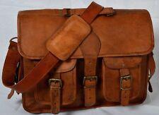 Bag Of The Year New Men Leather Vintage Messenger Shoulder Laptop Bag Briefcase