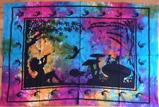 Fairy And  Mushroom  Indian  Batik   Cotton  Wall  Hanging  !!     Brand New !!