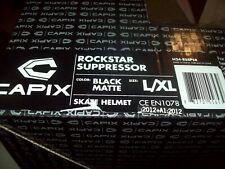 "Skate Helmet, Bike Helmet - ""Capix ROCKSTAR Suppressor"", Matte Black- L/XL"