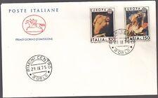 ITALIA BUSTA CAVALLINO POSTE EUROPA CARAVAGGIO FDC ANNULLO FIRENZE 1975