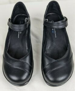 Aravon by New Balance Womens Shoes Size 6.5 D Leather Black Mary Jane Comfort