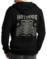 Herren Hoodie Kapuze Sweatshirt Pullover Motiv Auto Hot Rod USA Motiv