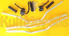 Lenker Alu silber Armatur Kupplung Gas Griff pas f Simson S51 S50 S70 SR50 flach