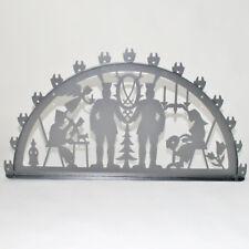 Arco Di Natale Luci Erzgebirge Metallo XL Esterno argento antico Luci a catena