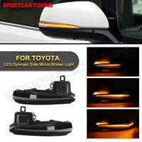 Sequential LED Side Mirror Turn Signal Light Blinker For 2016-2021 Toyota Tacoma