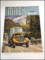 1936 1937 Mack EH and EHT Semi Truck Original Vintage Sales Brochure Catalog