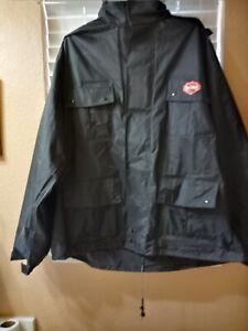 Men's Harley-Davidson Rain Suit, expandable Jacket and pants  Size Large
