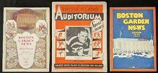 1930 -1931 Boston Garden Sports Programs (3 Pros)