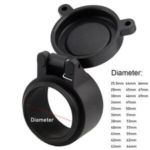 Rifle Scope Lens Cover Flip Up Cap Objective Lense Lid Quick Spring Protection