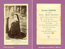 CDV RELIGION, BERNADETTE SOUBIROUS, SOEUR MARIE-BERNARD, LOURDES APPARITION  -M1