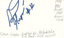 Simon Gagne Philadelphia Nhl Hockey Autographed Signed Index Card