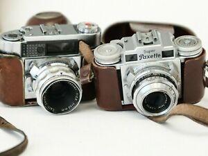 2x BRAUN PAXETTE + CZ TESSAR + SK XENAR - camera made in Germany