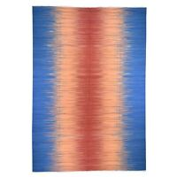 "10'1""x14'5"" Hand Woven Durie Kilim Pure Wool Gradient Design Oriental Rug R46756"
