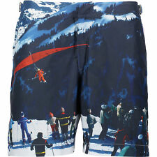 Orlebar Brown Men's Multi Ski Print Swim Shorts Size XS