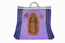 Virgin of Guadalupe Mexican Mesh Market Tote Purple Reusable Grocery Bag Kitchen  00006000