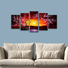 Canvas Print Painting Pictures Wall Art Home Decor Floral Tree Landscape Framed