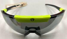 Briko Lipari Ski / Cycling Retro Sunglasses. Black / Green