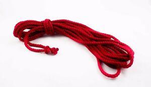1 x 8M – DV8 Jute Rope Red  - Shibari Kinbaku