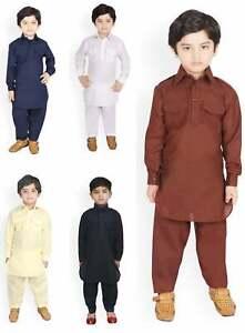 Boys Traditional Indian Ethnic Pathani Kurta Pajama Wear Child Pathani Dress