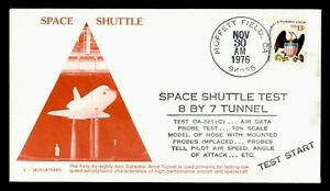 DR WHO 1976 MOFFETT FIELD CA SPACE SHUTTLE TEST 3 MUSCATEERS CACHET  g41997