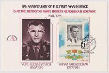 US USSR FDC 1976 Fleetwood Presentation Card Yuri Gagarin First Man in Space |