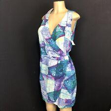 & Other Stories NEW $75 Tie Dye Wrap Dress Sleeveless Beach Womens Size 8 PockeK