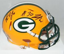 AARON JONES & JAMAAL WILLIAMS SIGNED GREEN BAY PACKERS SPEED MINI HELMET JSA