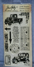 Tim Holtz Clear Stamps - The Journey 10 piece: HC-010  NEW!  old car/truck
