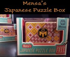 NEW Mensa - Wooden Japanese Puzzle Magic Trick Box Square Cube - 12 Steps