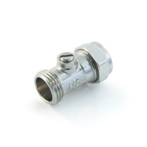 """bollofix 15MM X 1/2""""  MALE IRON FLAT FACE ISO VALVE TO FIT FLEXI TAP CONNECTORS"""