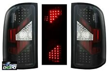 07-09 GMC Sierra 1500 2500 Denali LED REAR Tail Lights BLACK DEPO PAIR