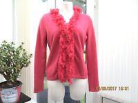 """phase eight"" ladies pink cardigan size 12"