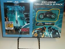 Sealed Walmart Collector's Tron Legacy Blu-ray/Dvd Set With Diecast Light Cycle