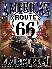 Americas Route 66, Retro metal Aluminium Sign vintage / man cave