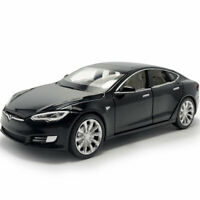 Tesla Model S 100D Sedan 1:32 Model Car Diecast Toy Vehicle Kids Pull Back Black
