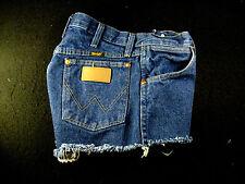 Wrangler Vintage CUTOFF JEAN SHORTS Cut Off High Waisted W 29 Denim Hot Pants