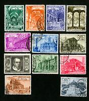 Vatican Stamps # 122-30 + E11-12 VF Used Scott Value $50.50