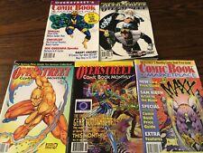 Five Overstreet's Comic Book Marketplace #1,2,5,16,21   Circa 1993-5