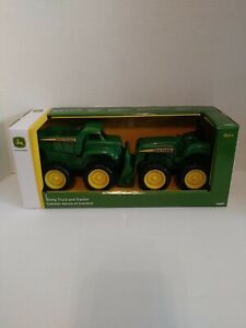 John Deere Toy Dump Truck & Tractor Play Set By Tomy New