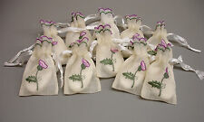 12 New Guest Soap filled Thistle Embroidered Scottish Wedding Favour Bags ZC32